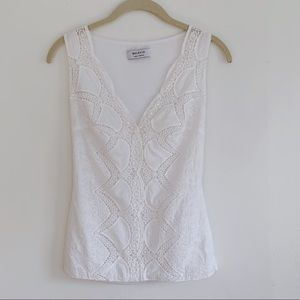 Bailey 44 White Lace Tank Top